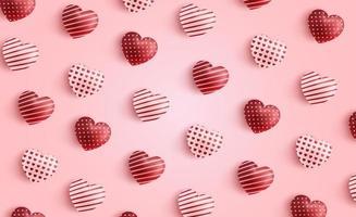 felice giorno di San Valentino sfondo, modello di cuore di San Valentino