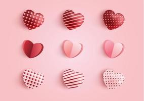 collezione di cuori di San Valentino