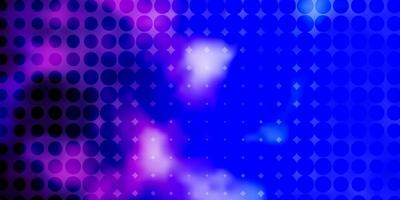 layout vettoriale rosa chiaro, blu con cerchi.