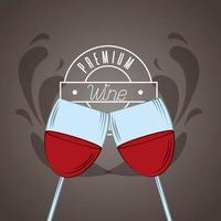 poster di vino con bicchieri