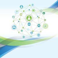 vettore grafico dell'illustrazione della comunità di rete globale