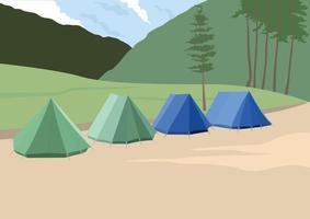 campeggio illustrazione grafica vettoriale