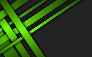 strisce verdi sovrapposte. sfondo materiale geometrico. design aziendale astratto scuro con posto per il testo. moderna illustrazione vettoriale