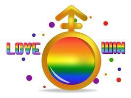 arcobaleno di colore simbolo di diritti lgbt isolato vettore