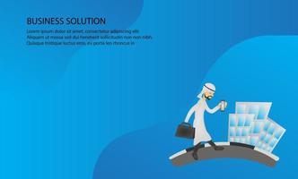 modello di progettazione di soluzione aziendale. facile da modificare personalizzare.