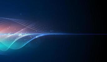 equalizzatore digitale blu astratto, vettore di elemento del modello di onda sonora