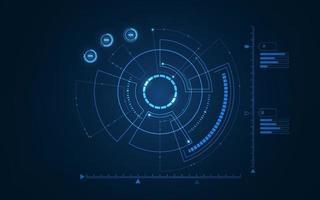 interfaccia utente futuristica sci fi. illustrazione vettoriale. vettore