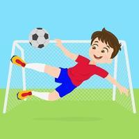 portiere di calcio cattura palla vettore