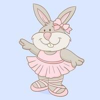 simpatico coniglietto ballerina vettore
