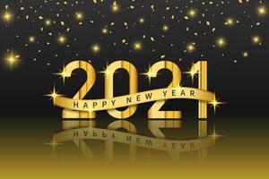 disegno di sfondo realistico felice anno nuovo 2021 per biglietti di auguri, poster, banner, illustrazione vettoriale. vettore