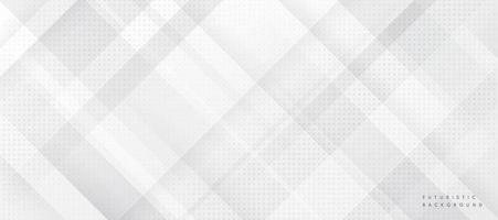 forma geometrica futuristica astratta su sfondo grigio. modello tecnologico moderno. trama di piazze. è possibile utilizzare per modello di brochure di copertina, poster, banner web, pubblicità stampata, ecc vettore