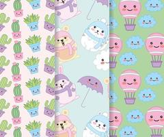 set di pattern carino kawaii