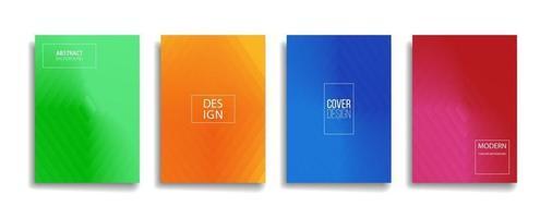 gradiente luminoso colore astratto linea modello sfondo copertina design. design di sfondo moderno con colori vivaci alla moda e vivaci. modello di copertina di vettore del manifesto del cartello verde arancione rosso blu viola rosso.