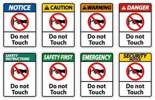 avviso non toccare le etichette dei segni