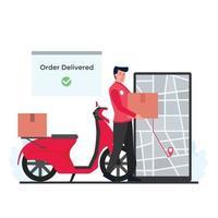 illustrazione del concetto di consegna vettore