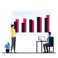 illustrazione del concetto di informazioni sui dati vettore