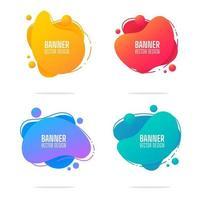 set di banner elementi grafici fluenti forme liquide e moderne linee geometriche astratte. vettore