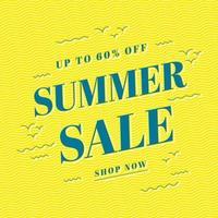 design del modello di banner di vendita estiva, offerta speciale di grande vendita. banner di offerta speciale di fine stagione.