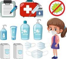 prodotti disinfettanti per le mani isolati vettore