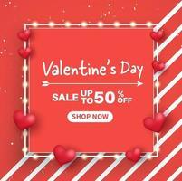 banner di vendita banner di San Valentino.