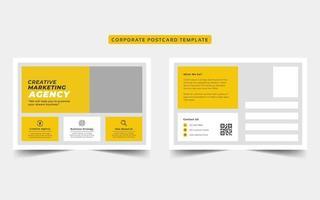 modello di cartolina di affari aziendali