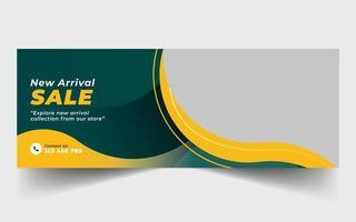 banner di vendita per i social media vettore