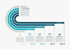 icone moderne di infographics con 5 opzioni vettore
