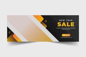 banner web di vendita per i social media vettore