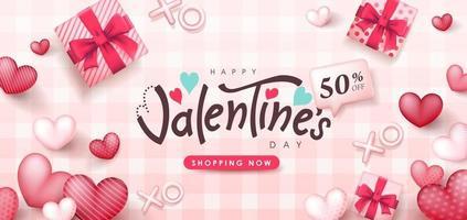 poster di vendita di San Valentino o banner backgroud.