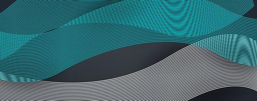 Fondo astratto della curva dell'onda della linea moderna 3d vettore