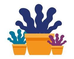 vettore dell & # 39; icona dei vasi della pianta di affari