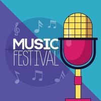 poster del festival musicale vettore