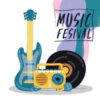 poster di invito di intrattenimento festival musicale vettore