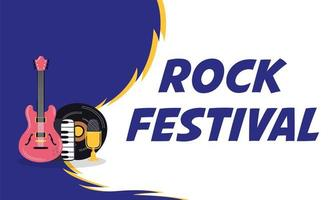poster di invito di intrattenimento festival rock vettore