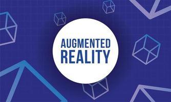 banner di realtà aumentata con cubi vettore