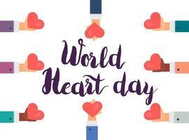 giornata mondiale del cuore vettore