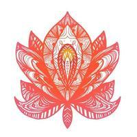 tatuaggio fiore di loto vettore