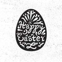 vintage buona Pasqua scritte vettore