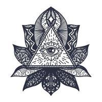 occhio sul tatuaggio del loto