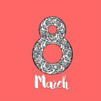 festa della donna 8 marzo vettore