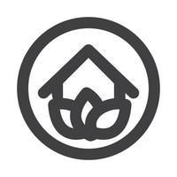 logo della casa ecologica vettore