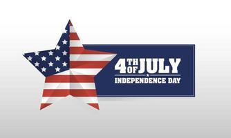 4 luglio celebrazione design con stella vettore