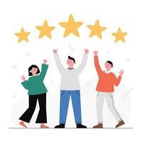 recensioni dei clienti, feedback. vettore