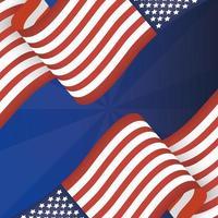 4 luglio celebrazione design con bandiere vettore