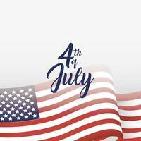 4 luglio celebrazione design con bandiera vettore