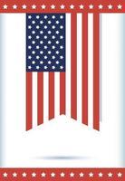 4 luglio celebrazione design con bandiera usa vettore