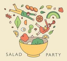 illustrazione del concetto di cibo. vettore