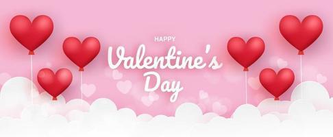 banner di San Valentino. vettore