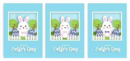 set di carta del giorno di Pasqua. vettore