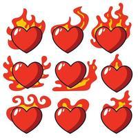 sfondo di vendita di san valentino con palloncini a forma di cuore. fuoco amore mano